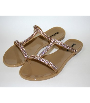 Nude decorated sandals