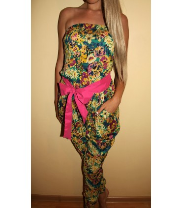 Flowered jumpsuit