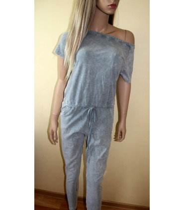 Aged material jumpsuit